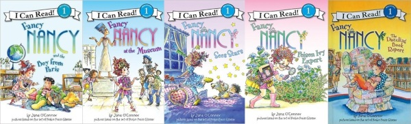 The first five Fancy Nancy readers!