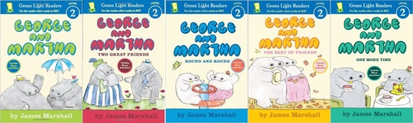 The first five George and Martha readers written by James Marshall.